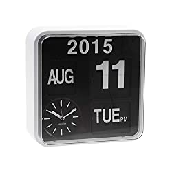 Karlsson Mini Flip, Wall, Table Clock, 24.5x24,5x10cm, White