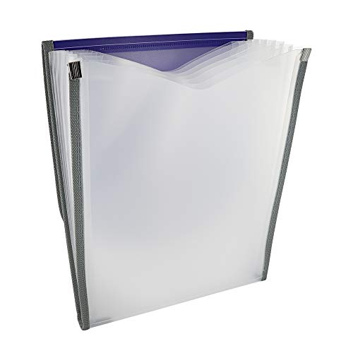 7-Pocket Letter Size Vertical Poly Expanding File High Capacity Plastic Business Portable Accordion File Bag Folder Office Organizer for Receipts and Checks Pack of 6 - by Emraw Photo #3