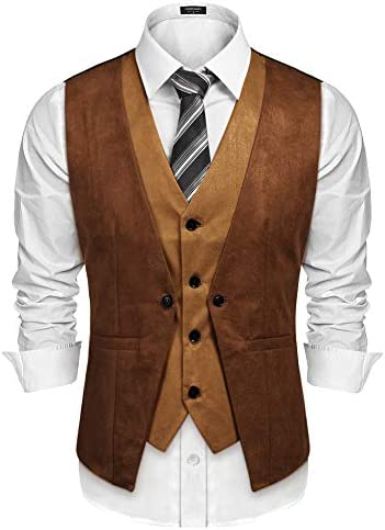 Brown vest men _image1