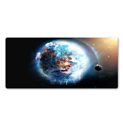 Space Blue Planet - Alfombrilla de ratón creativa para el hogar, teclado de ordenador, alfombrilla de ratón para computadora (color: 800 x 300 x 2)