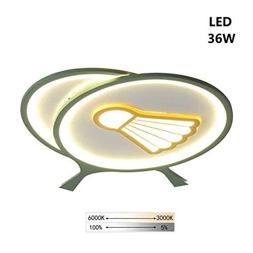 Auccy Wohnzimmer Badminton Deckenlampe LED, Modern Dimmbar Deckenleuchte Ring 36W DeckenLicht Kreatives Kinderzimmer Esszimmer Badezimmer Schlafzimmer Dekorative Beleuchtung Lampe, (3000K~6000K)