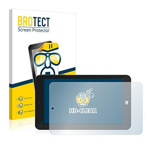 BROTECT Schutzfolie kompatibel mit TrekStor SurfTab Wintron 7.0 (2 Stück) klare Bildschirmschutz-Folie