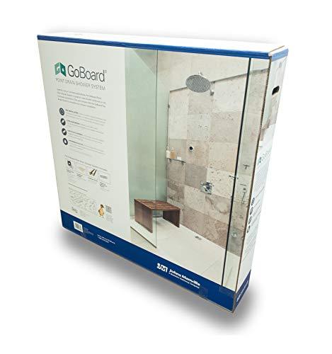 GoBoard Point Drain System Self Installation Shower Kit Bathtub to Shower Conversions | Fast Installation Lightweight Waterproof