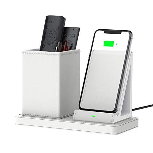 OH Cargador Inalámbrico Organizador de Escritorio Organizador de Bolígrafo Qi-Certified 10W Max Fast Fast Wireless Fast Wirging Station para Iphone 12 / 12Pro Y Samsung S7 / S7 Edge