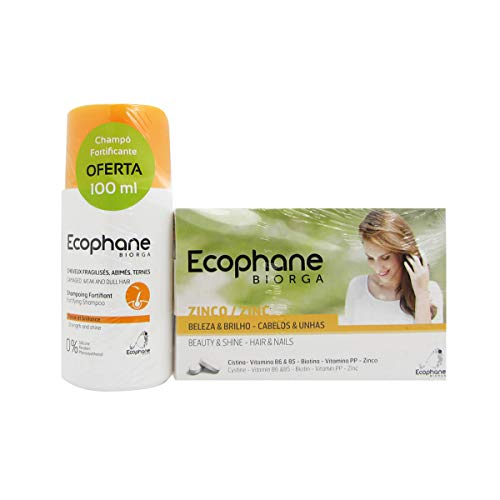 Ecophane Hair & Nail Pack 60 Caps + Shampooing Fortifiant 100 Ml