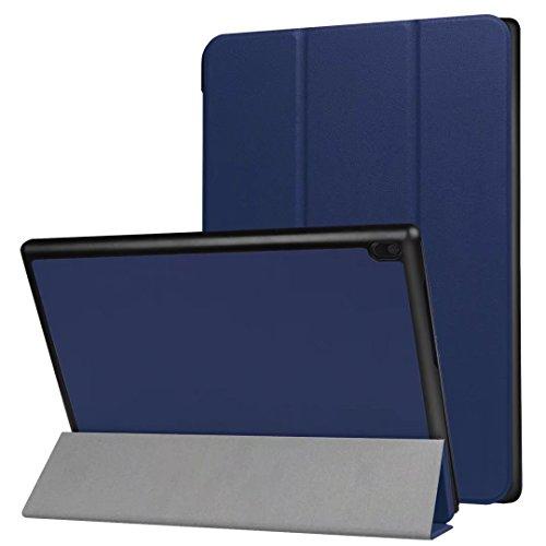 Xinda Lenovo Tab4 10 TB-X304F/N PU Funda - Ultra Delgado Tri-Fold Funda de Piel Funda con Auto Wake / Sleep Para Lenovo Tablet TAB4 10.0 (TB-X304F)