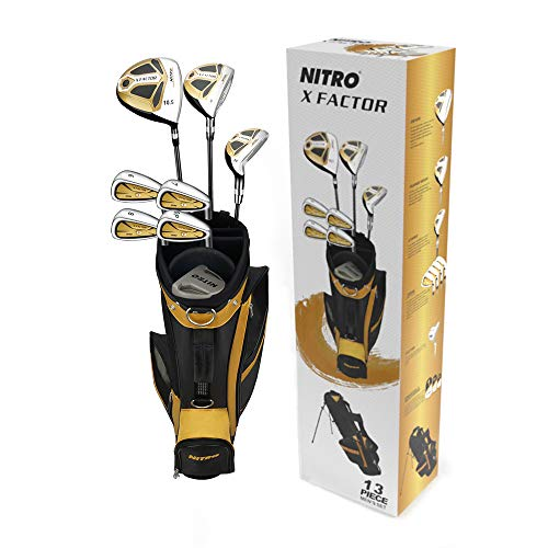 Nitro X Factor Golf Set Mens, Right Hand, Silver