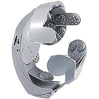 jtih® Masajeador de cabeza eléctrica 8tipos de masaje intensidad regulable puntos de acupuntura (casco de masaje gris