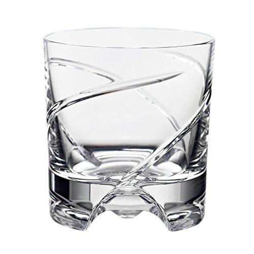 CRISTALICA Whiskyglas Drehbecher German Roulette Dresden transparent aus Bleikristall 225ml