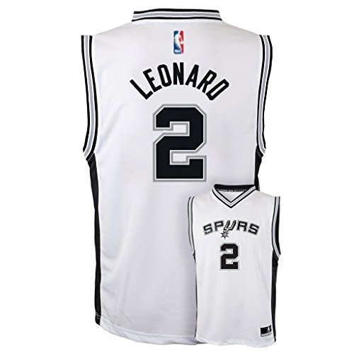 Kawhi Leonard San Antonio Spurs #2 White Youth Home Replica Jersey Small 8