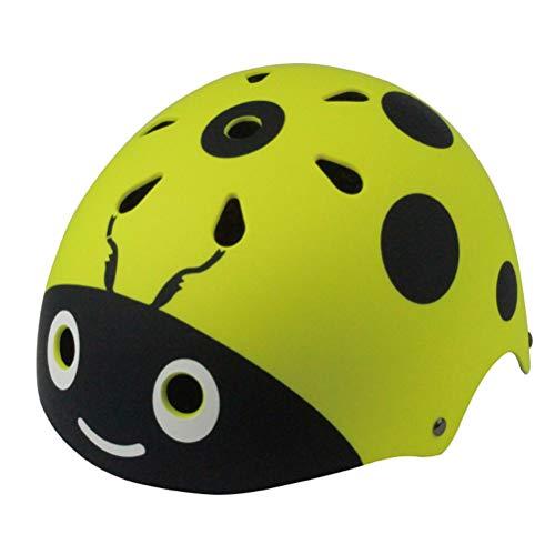 Lowest Price! VORCOOL Child Helmet Free Size Bicycle Safety Helmet for Ice Skating Balance Bike Wheelbarrow(Light Green)