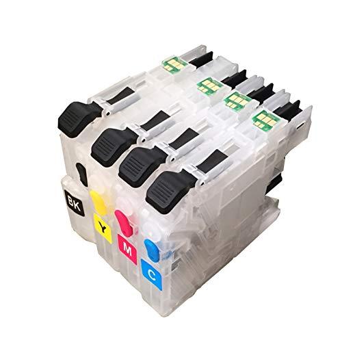 WSCHENG LC131 LC133 Cartucho de Tinta Recargable para Brother J245 / J470DW / J650DW / J870DW / J4410DW / J172W / J152W Printer con Chips de Arco permanentes