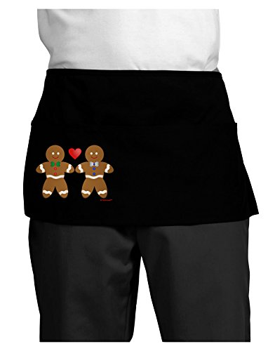 TooLoud Gingerbread Man Couple Dark Adult Mini Waist Apron - Black - One-Size