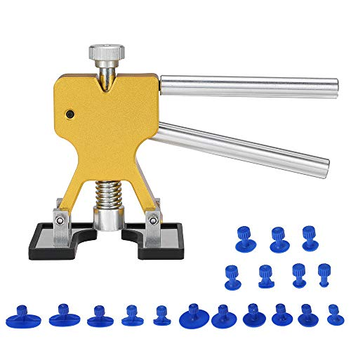 DEDC Dellen Reparatur Ausbeulwerkzeug Lackfreies Dent Puller Set, Dellen Reparaturset, Auto Paintless Dent Removal Kit für Fahrzeug Dellen/Tür Dings/Hagel Schaden Entfernen