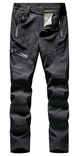 GITVIENAR Pantalon chauffant électrique pour femme avec doublure en polaire amovible, imperméable, respirant, coupe-vent, pantalon thermique d'hiver pour l'alpinisme, le jogging, le cyclisme