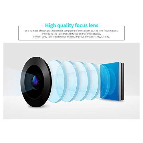 QFTFX Tragbarer Videoprojektor Full HD 1080P Heimkino-Beamer Preiswerter Proyector mit HDMI AV SD VGA (Color : Silver)