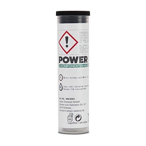 POWER REPAIR Epoxy Kente - Extra starke Knetmasse zum Fixieren, Ausbessern und Abdichten - 64 g 2-Komponenten-Kleber Epoxidharz - 2 Komponenten Knete