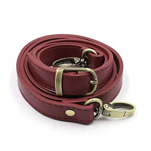 YOYOHO Bolsa de Hombro Ajustable Correa de cinturón con Hebillas de Metal Reemplazo de Bandolera - Rojo Vino