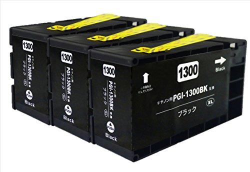 Canon voor compatibiliteit PGI-1300XL [zwart] drie compatibele inkt PGI-1300XLBK maxify MB2730 MB2330 MB2130 MB2030 [pigment / resterende bedrag weergave IC / garantie]