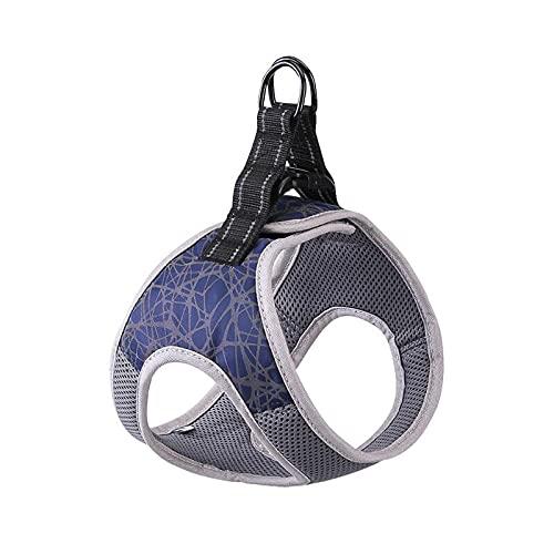 LINMAN Hundegeschirr Kragen Reflektierende atmungsaktive einstellbare Hundeweste Sicherheitshunde Training Wandergurte Kein Zug Hunde Zubehör (Color : Blue, Größe : XL Chest 56 61CM)