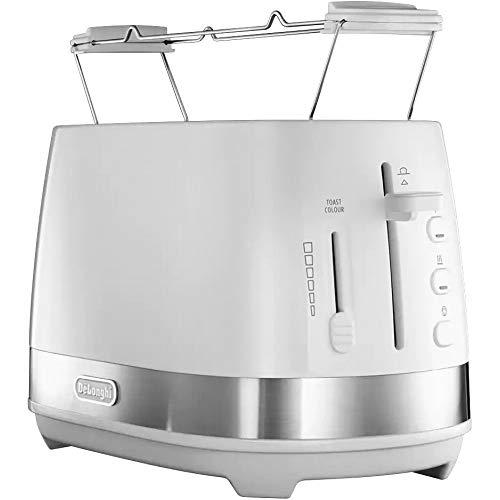 DeLonghi CTLA2103.W Toaster 2 Scheiben (weiß) 900 W