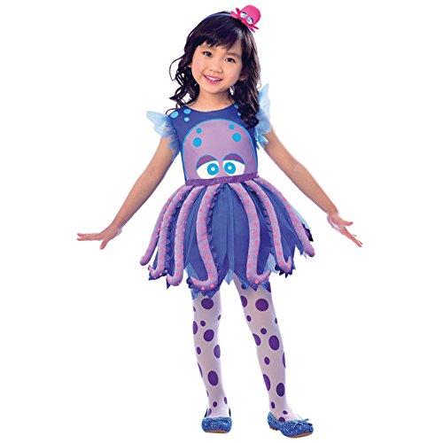 Oktopus - Kraken Kostüm Kinder Mädchen Amscan