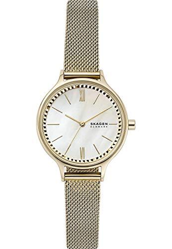 SKAGEN Reloj Analógico para Señoras de Cuarzo con Correa en Acero Inoxidable skw2907