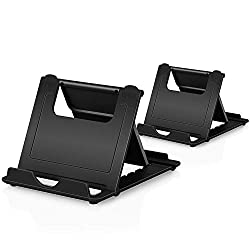 Phone Stand, 2Pack Cellphone Holder Tablet(4-7.9)stands Foldable Multi-angle for desk lightweight Desktop Dock Cradle Compatible for iPhone Xs Max XR 8 Plus 6 7 6S X 5 Samsung Galaxy S10 S9 S8 S7 Edg