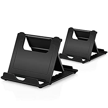 Phone Stand 2Pack Cellphone Holder Tablet 4-7.9  stands Foldable Multi-angle for desk lightweight Desktop Dock Cradle Compatible for iPhone Xs Max XR 8 Plus 6 7 6S X 5 Samsung Galaxy S10 S9 S8 S7 Edg