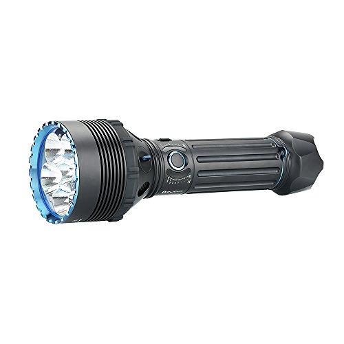 OLIGHT X9R Marauder 25000 Lumen Six High Performance LED Super Bright Rechargeable Flashlight, Search Flashlight with 8x18650 Rechargeable Battery Pack Patch