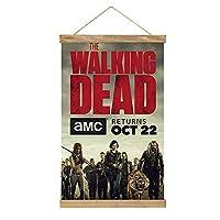 The Walking Deadぶら下げ写真 木製フォトフレーム フレーム ポスター い DIY アートワーク 写真、ポスター、絵画などに適用 縦飾り用 木製 角型(33cm)
