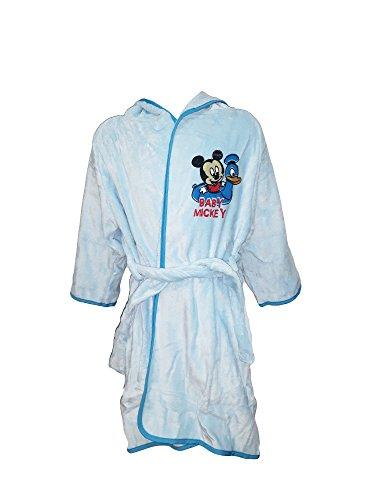Disney Accappatoio Neonato/a Spugna con Cappuccio Minnie Mickey Art. WD36056 (24 Mesi, Acqua)