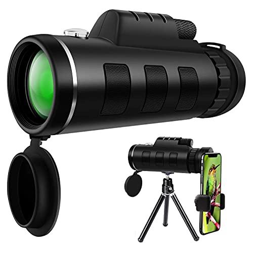 Monokulares Teleskop,40X60 High Power HD Monokular Mit Smartphone Halter & Stativ Wasserdichtes Mit Für Vogelbeobachtung Camping Wandern Match Reisen