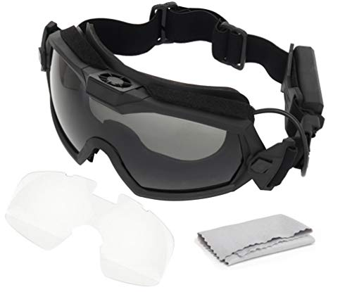 JOYASUS Fan Version Cooler Airsoft Glass Regulator Goggles Ski Snowboard Bike Sports Black