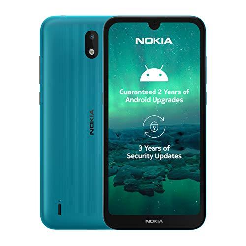 Nokia 1.3 Smartphone - (14,3cm (5.71') 16GB ROM, 1GB RAM, Dual SIM), Cyan