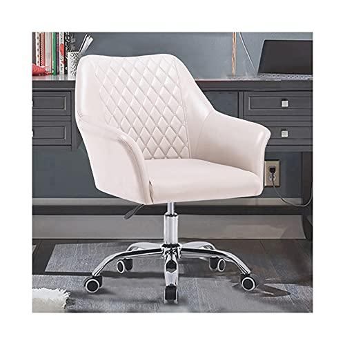 Home Office Schreibtischstühle Leder Moderner Computer Schreibtischstuhl Arbeitsstuhl mit Armen und Rädern, Gelb/Grau