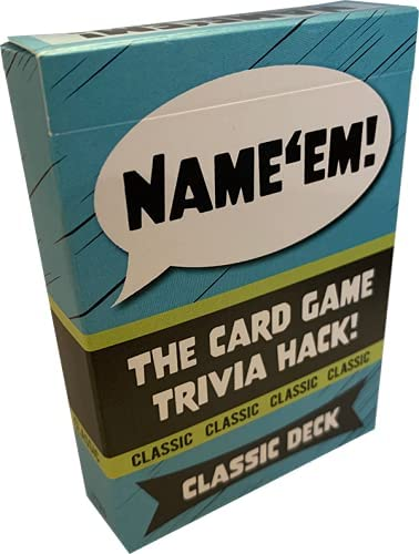 Name'em Classic Deck - Playing Cards Trivia with List a on Super 2021 autumn and winter new intense SALE Ever