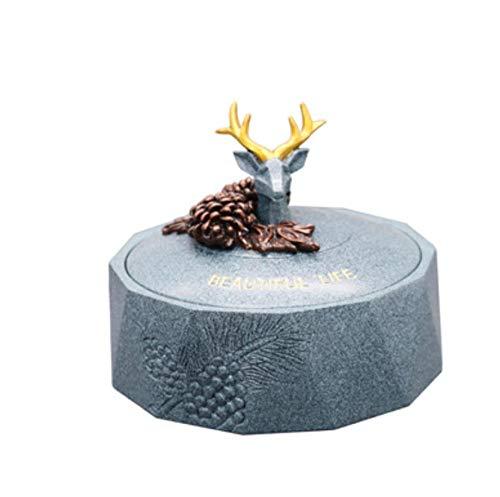 LJXLXY Decorations Art Craft Asbak glas met deksel huishoudelijke woonkamer persoonlijkheid salontafel decoratie studie
