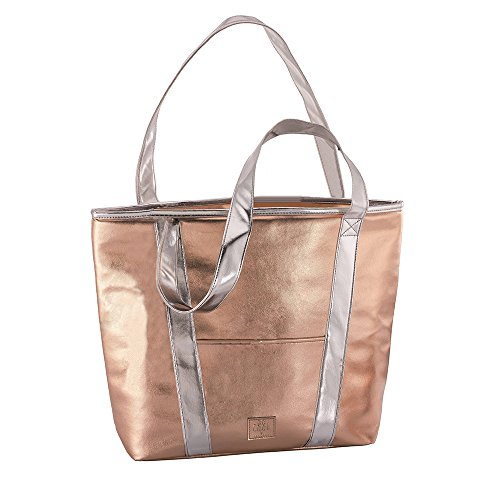 BE Cool Shopper Sac Isotherme Mixte Adulte, Or/Rose/Argent, 47 x 13 x 34 cm
