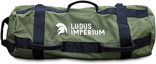 Ludus Imperium Sandbag for Training, Heavy Duty Workout Sandbags for Training, Fitness, Cross-Training & Exercise, Workouts, Sandbag Weights (Military Green, 30 KG)