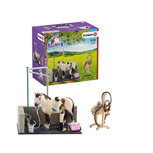 Schleich 42104 Horse Club Spielset - Waschplatz, Spielzeug ab 5 Jahren