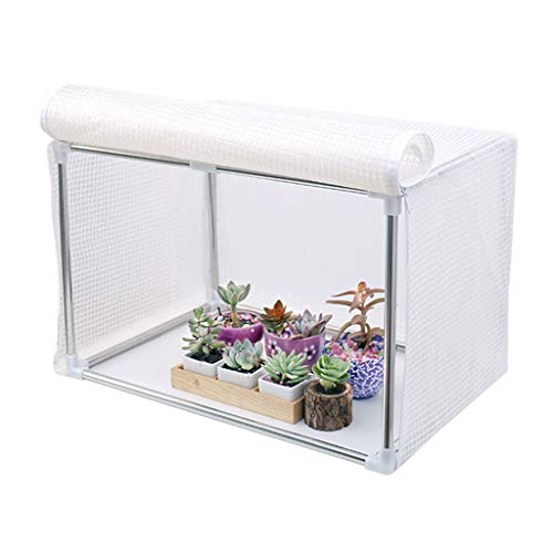 Portable Succulent Green Plants Greenhouse Multifunctional Winter the Plastic Tenting Stainless Steel Bracket Zipper Design Simple Installation 120x40x40cm