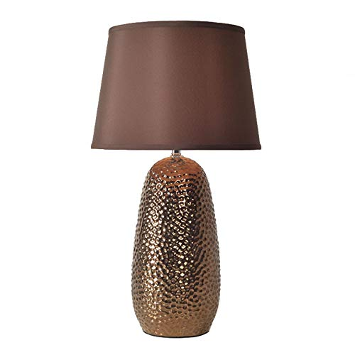 Lámpara de Mesa Contemporánea Rústica lámpara de mesa con textura martillada Cerámica...