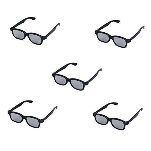Pixnor 5Paar Erwachsenen 3d Brille anaglifi Brille schwarz