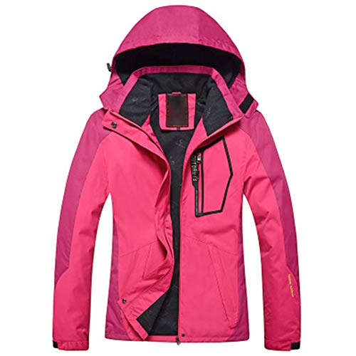 NNLX Diamond Candy Hooded Waterproof Jacket Softshell Damen Sportbekleidung, Bergsportanzug Reisejacke, atmungsaktiv, tragbar, Feuchtigkeitsschweiß, M-3XL-A-L