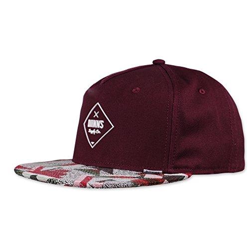 DJINNS - Rubber Aztek (wine) - Snapback Cap Baseballcap Hat Kappe Mütze Caps