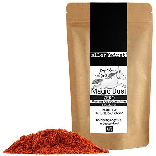 allerFeinst! - Magic Dust Zero - BBQ Rub ohne Zucker, Premium Trockenmarinade, Würzmischung, 1er Pack (1 x 150g)