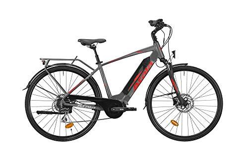ATALA Bici elettrica Modello 2019 Cute S 28 8 velocità 418 Colore Grigio-Rosso Misura Unica 49