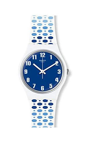 Swatch Reloj Analógico para Hombre de Cuarzo con Correa en Silicona GW201