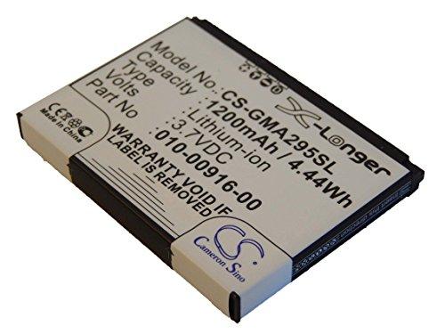 Batterie Li-Ion vhbw 1200mAh (3.7V) pour système de navigation GPS Garmin Nüvi 295, Nuvi 295W. Remplace 010-00916-00, 010-00916-00-GA.